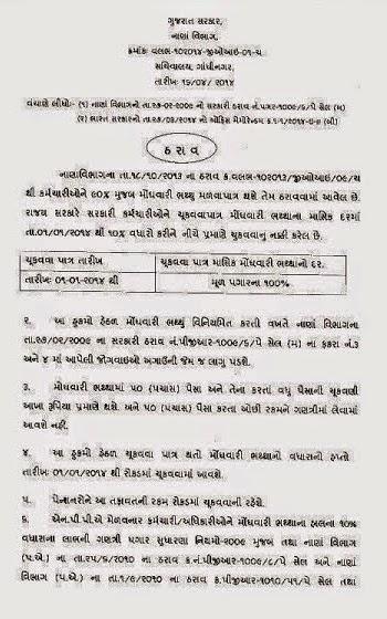 Gujarat Government Employees 10 Percent DA Increase Official Circular