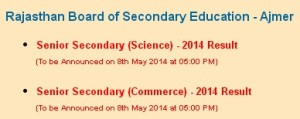 RBSE 12th Result 2014