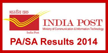 India Post PA SA Exam Results 2014 Gujarat