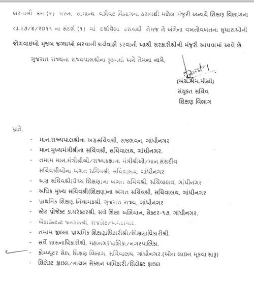 Uper Primary Vidhyasahayak Bharti 2014-15 Karva Babat 2
