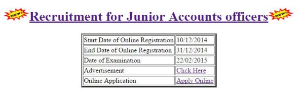 BSNL Junior Accounts officers Recruitment 2014