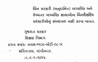 Higher Secondary School Non Teaching Staff Nakki Karva Babat