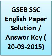 GSEB SSC English Paper Solution