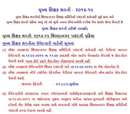 HTAT Sidhi Bharti Second Round