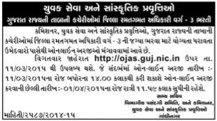SYCD District Sport Officer Class 3 Recruitment 2015