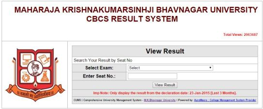 MK Bhavnagar University Med Result 2015