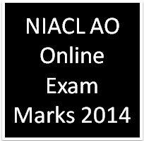 NIACL AO Online Exam Marks 2014