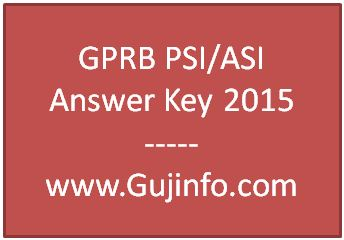 GPRB PSI ASI Answer Key 2015