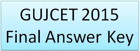 GSEB GUJCET Final Answer Key 2015