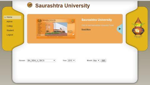 Saurashtra University Bcom Sem 2 Result 2015