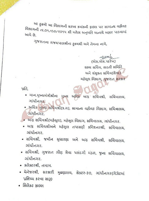 1500 Revenue Talati Exam 2014 Cancellation 1