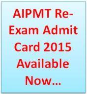 AIPMT Admit Card 2015