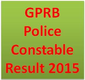 GPRB Police Constable Result
