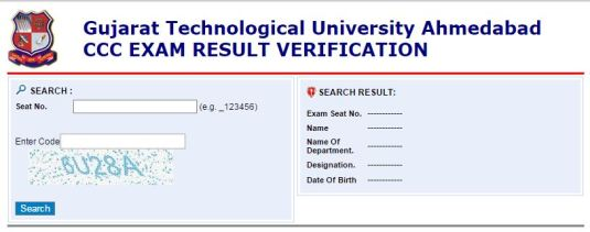 GTU CCC Result Verification