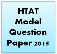 HTAT Model Question Paper 2015