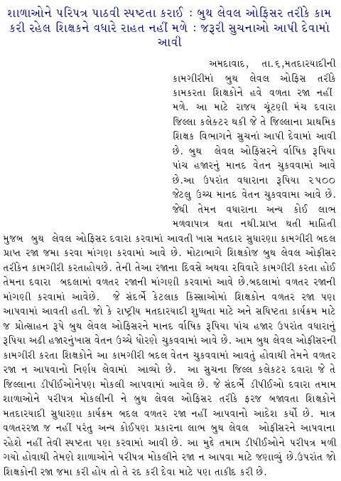 BLO Ne Valtar Raja Nahi Male - News Report