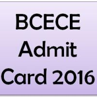 BCECE Admit Card 2016