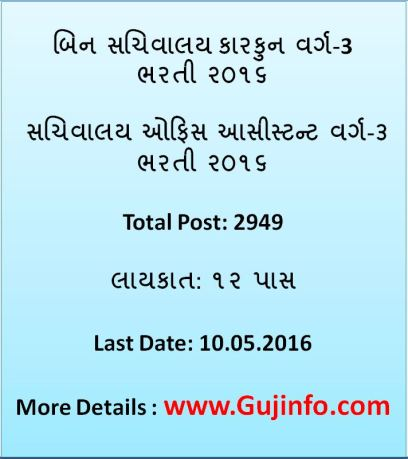 Bin Sachivalay Clerk Bharti 2016