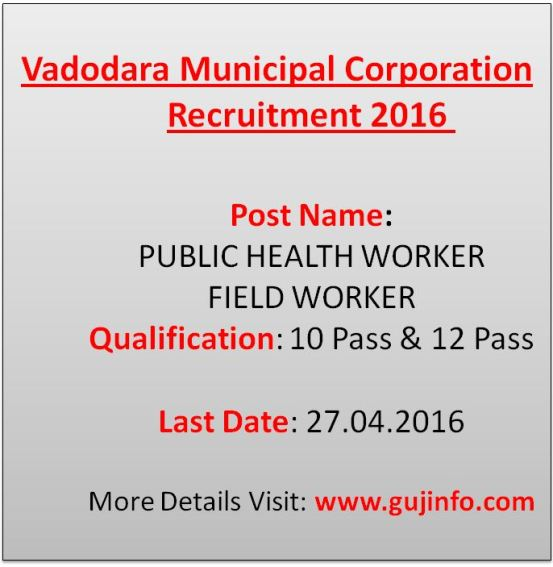 VMC PHW FW Recruitment 2016