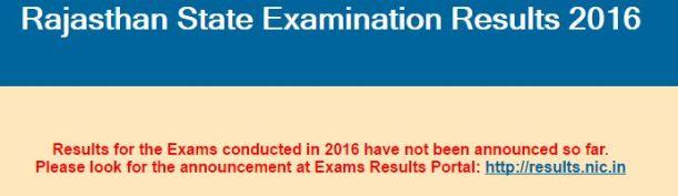 BSER RBSE Rajasthan Board 12th Result 2016