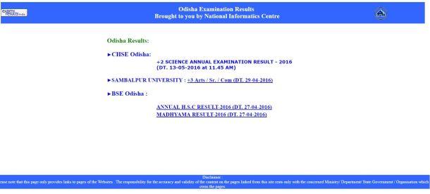 CHSE Odisha 12th Result 2016