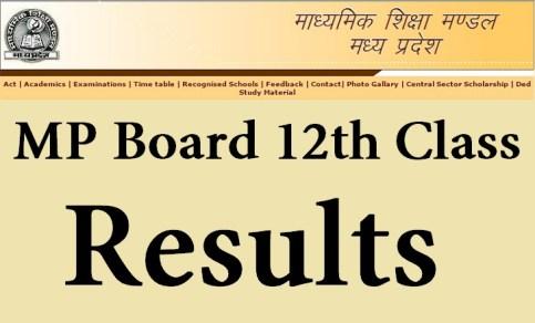 MP Board 12th Result 2016
