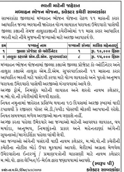 MDM Sabarkantha Recruitment 2016