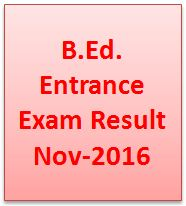 BAOU B.Ed. Entrance Exam Result 2016