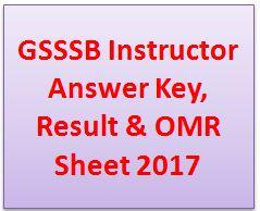 GSSSB Instructor Answer Key