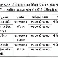 Gujarat Panchayat Bharti Exam Date 2017