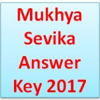 Mukhya Sevika Answer Key 2017