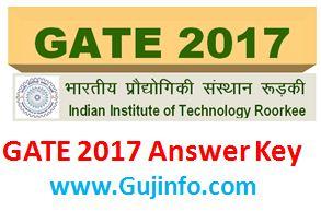 GATE 2017 Answer Key download