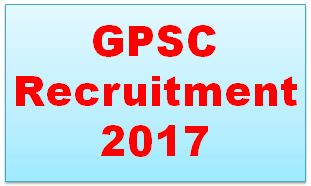 GPSC Recruitment 2017 Online