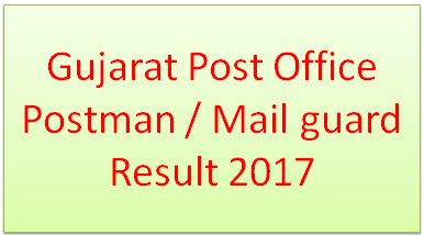 Gujarat Post Office Postman Mailguard Result 2017