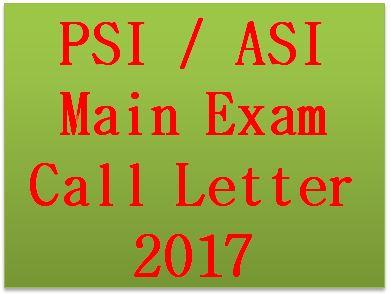 PSI ASI Main Exam Call Letter 2017