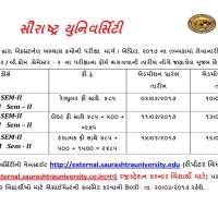 Saurashtra University External Exam Form 2017