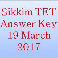 Sikkim TET Answer Key 2017