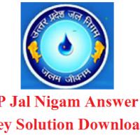 UP Jal Nigam Answer Key 2017