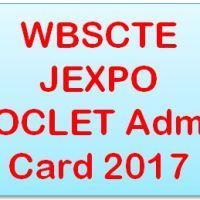 WBSCTE JEXPO VOCLET Admit Card 2017
