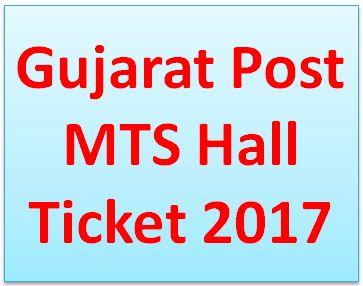 Gujarat Postal Circle MTS Call Letter 2017