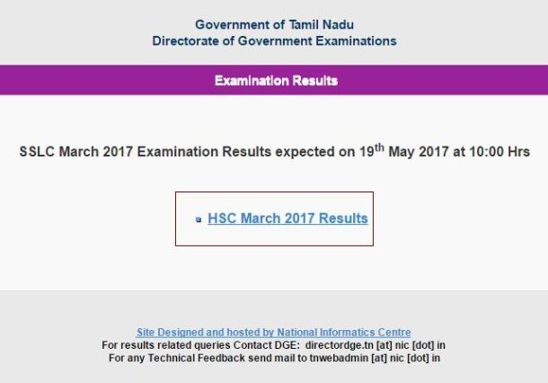 TN 10th Result 2017