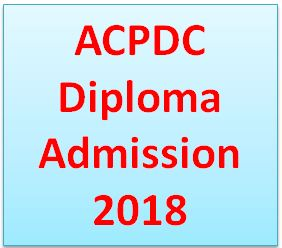 ACPDC Diploma Admission 2018