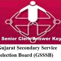 GSSSB Senior Clerk Answer key 2017