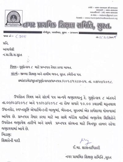 Gunotsav 8 Question Paper Taiyar Karva Babat Paripatra