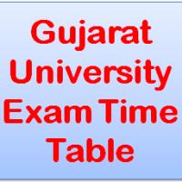 Gujarat University Exam Time Table 2018