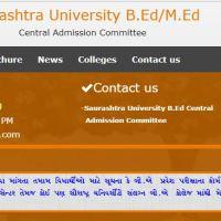 Saurashtra University B.Ed./MEd. Admission