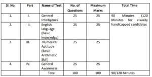LCD exam pattern