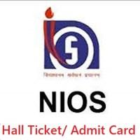 NIOS DElEd Hall Ticket