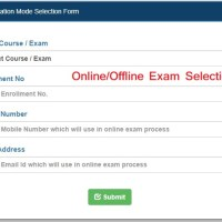 Online/Offline Exam Selection