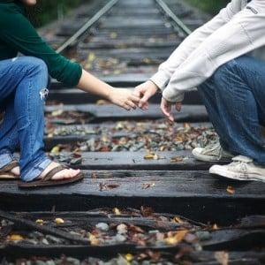 couple rail train